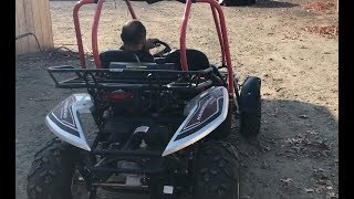 5. Hammerhead GTS 150 Platinum Quad Go kart out for a lap around the woods