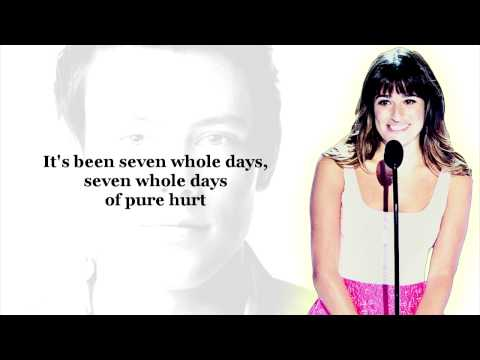 LISTEN! Lea Michele's Song About Cory Monteith's Last Words to Her