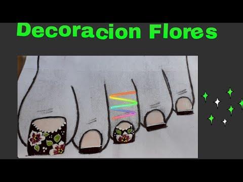 Uñas decoradas - UÑAS DE PIES DECORADAS CON FLORES
