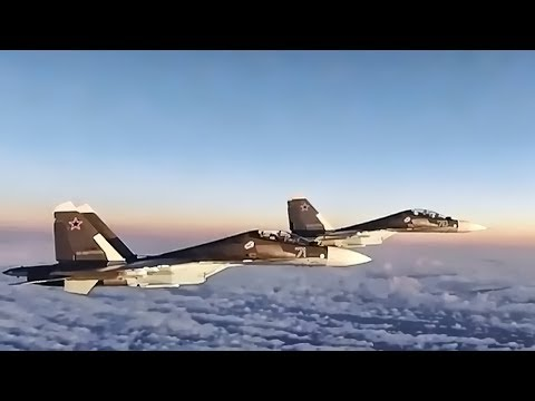 U.s. F-15 Eagles Intercept Russian Su-30 Flankers (2017)