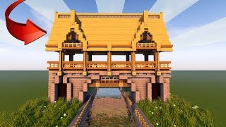 How To Build a BRIDGE In Minecraft! (Medieval Watchout Tower Tutorial) 2017