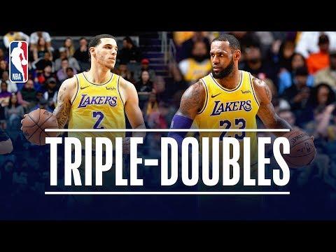 Video: LeBron James & Lonzo Ball Both Record TRIPLE DOUBLES   December 15, 2018