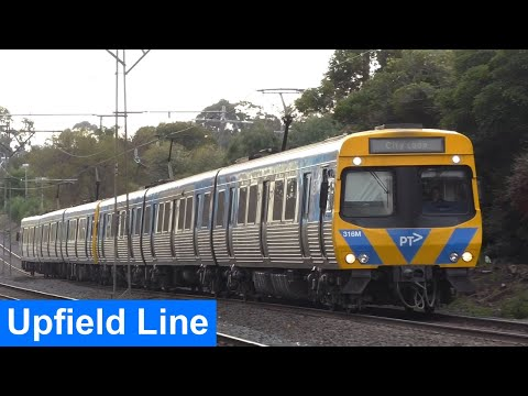 Trackside on the Upfield Line; Moreland to Fawkner - Metro Trains Melbourne
