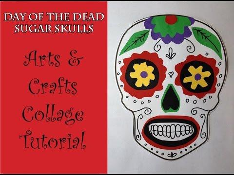 Day of the Dead Sugar skull Collage Craft Art Tutorial