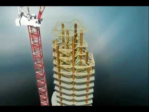 Burj Khalifa (Burj Dubai) Construction - Animation