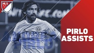 Andrea Pirlo assists for New York City FC by Major League Soccer