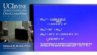 General Chemistry 1B. Lecture 9. Thermodynamics: Second&Third Law, Part III