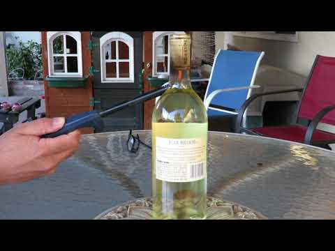 Open a wine bottle with fire?