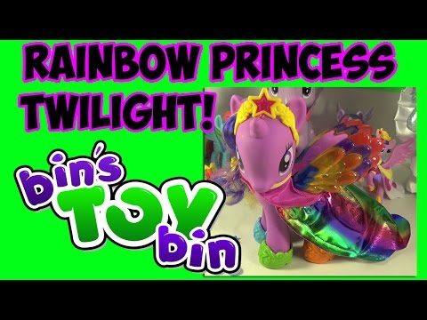 bin - YEAH! We open up and review the Giant Sized Rainbow Princess Twilight Sparkle that we meant to review LAST week (oops!). Bigger than a Fashion Style, this Pony is the same size as the
