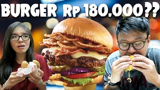 Video Burger Rp 180.000 Vs Rp 13.000 !!! MP3, 3GP, MP4, WEBM, AVI, FLV Juli 2017