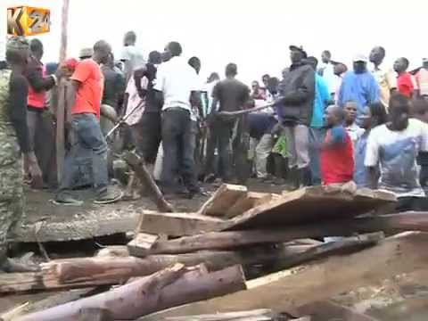Several Workers Trapped After Structure Crumbled In Manyatta, Kisumu