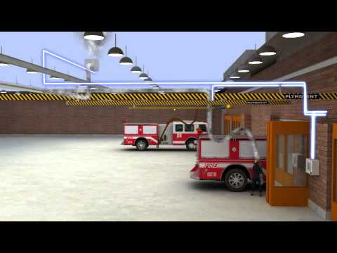 Diesel exhaust extraction system in a fire station with Magnetic Grabber®