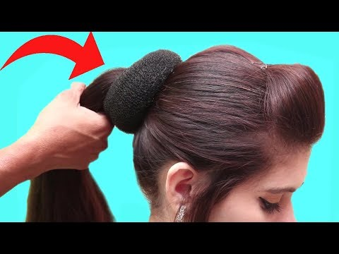 High ponytail hairstyles for long hair  puff hairstyles for girls  Easy Hairstyles videos 2018