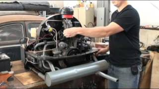 Classic VW Beetle Bug How to Start Rebuilt Engine on Floor Bench or Stand