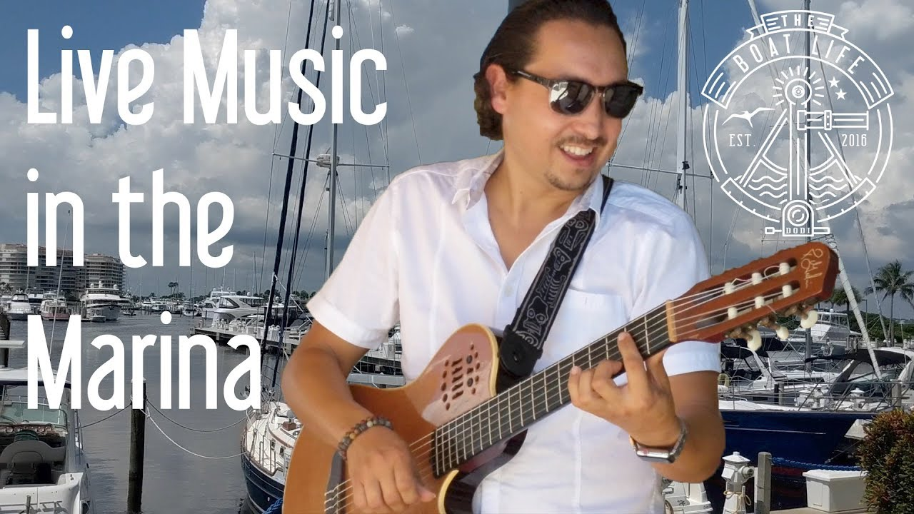 Poolside Tunes Andres Colin on the Guitar synthesizer The Boat Life Vlog 2 Live Music Sarasota