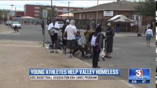 KBA-Kids Basketball Association KBA Cares Helping the Homeless Interview with 3tv News Phoenix,Az