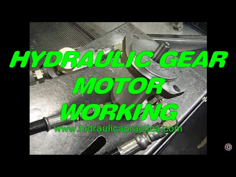 Hydraulic gear motor, how it works