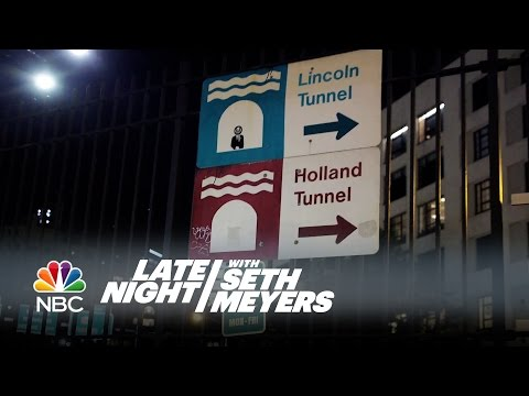 Seth Meyers Recreates David Letterman's Late Night Opening Package - Late Night with Seth Meyers