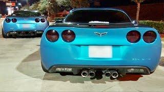 Video TURBO Mustang STREET RACES ZR-1 Corvettes! MP3, 3GP, MP4, WEBM, AVI, FLV November 2017