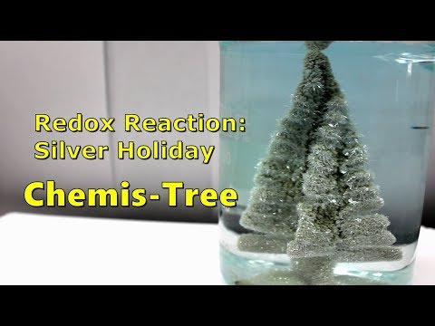 Redox Reaction: Holiday ChemisTree! Copper + Silver Nitrate (Holiday Chemistry)