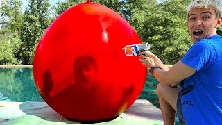 TRAPPED INSIDE GIANT BALLOON!! (WORLD RECORD)