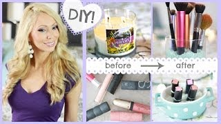 7 Easy DIY Makeup Storage Ideas! - YouTube