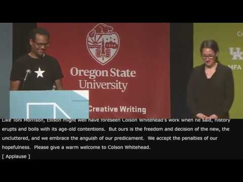 AWP19 Keynote Address by Colson Whitehead, Sponsored by Oregon State University