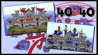 40 VS 40 BEDWARS!? | LIMITED TIME GAME MODE! (Bedwars Castles Gamemode)
