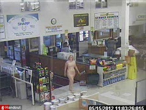 Woman Shops Naked in New York!