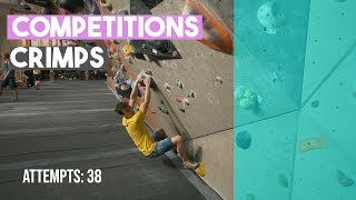Competition Climbing And Crimping - Fredrik Looking Human by Eric Karlsson Bouldering