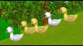Five Little Ducks went out one day - 3D Animation English Nursery rhymes for children