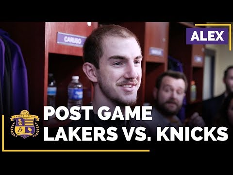 Video: Alex Caruso On His Strong Performance In Lakers Win Over The New York Knicks