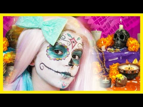 Sugar Skull Makeup tutorial  | Halloween Dia De Los Muertos  |  KITTIESMAMA