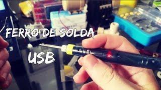 Testando o Ferro de solda USB 8W, 5V, enviado pelo Banggood. Ferro de solda pequeno, mas robusto, esquenta e esfria em menos de 30s. Pode ser usado conectado no notebook, carregador de celular, entre outros. Vocês encontram no Banggood: https://www.banggood.com/DANIU-Portable-USB-Powered-Mini-5V-8W-Electric-Soldering-Iron-With-LED-Indicator-p-1017109.html?p=970719369296201312SG