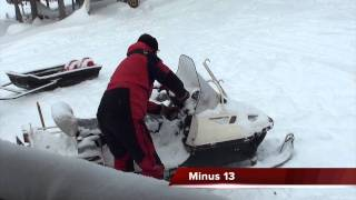 3. Ski doo Skandic super wide track cold start Minus 26 and minus 13