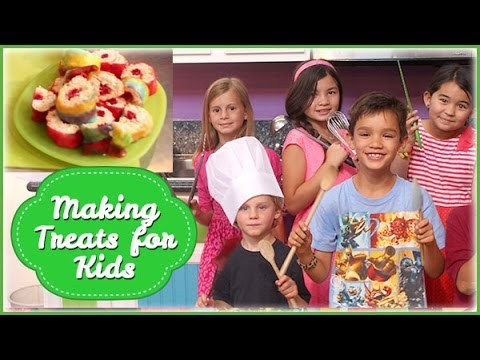 Making Treats For Kids With Kids (Candy Sushi)