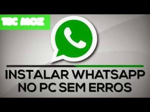 Tutorial-Baixar whatsapp para pc 32/64bit 2017