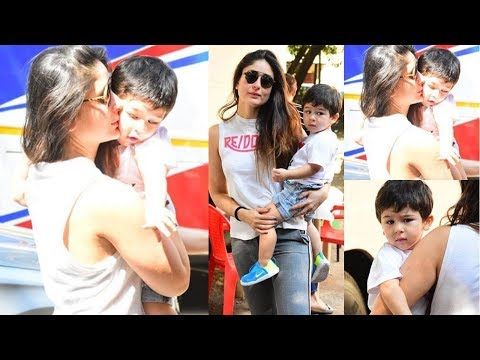 Kareena Kapoor Khan Kissing On Taimur Ali Khan's Cheeks On The Sets Of Mehboob Studios