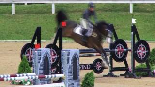 UDO DV ridden by ERIN HAAS at Great Lakes Equestrian Festival Week II. This round is from class 1062, MOD CHILD/ADULT...
