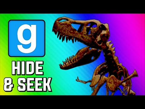Gmod Hide and Seek Funny Moments – Dinosaur Museum, Peeking Game, Delirious's Closet (Garry's Mod)