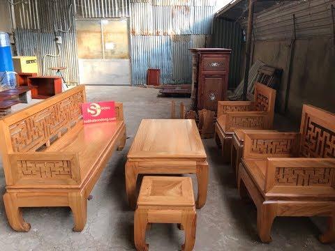 Bộ bàn ghế gỗ gõ đỏ hiện đại đẹp và tinh tế