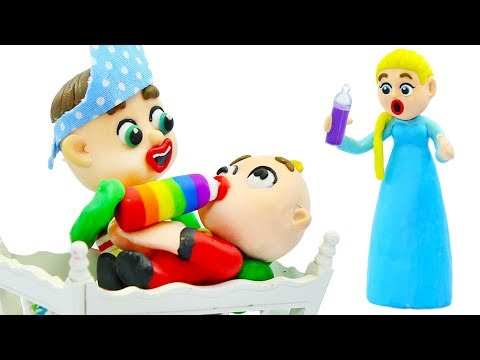 SUPERHERO BABY MOTHER CARE JACK JACK 💖 Play Doh Stop Motion Cartoons