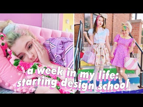 First Day of Design School, Art Haul, and a BIG OLE RANT   Weekly Vlog