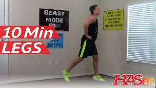 12 Min Devastation Leg Workout - HASfit Leg Exercises - Leg Exercise - Best Legs Workouts