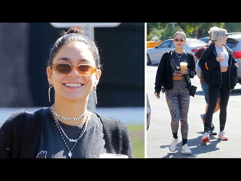 Vanessa Hudgens Cuts A Fierce Frame In Animal Print Leggings With BFF GG Magree