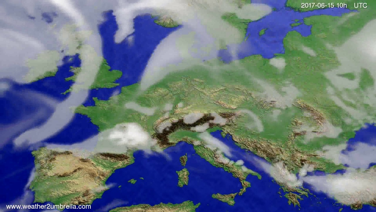 Cloud forecast Europe 2017-06-13