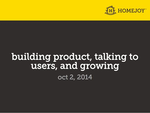 lecture - Adora Cheung, Founder of Homejoy, covers Building Product, Talking to Users, and Growing, in Lecture 4 of How to Start a Startup. See the slides, readings, a...