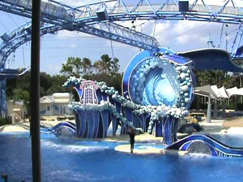 SHOW DE DELFINES EN SEA WORLD.2009