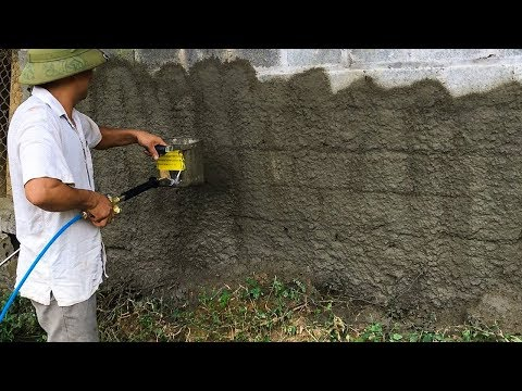 Máy - gầu phun vữa trát tường cầm tay quá nhanh | THIẾT BỊ CÔNG TRÌNH
