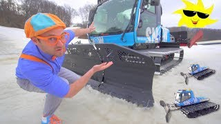 Blippi Explores a Snow Groomer | Educational Videos for Toddlers about Seasons